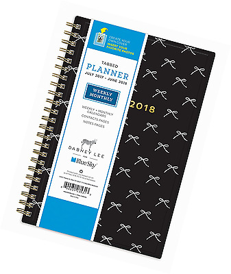 Dabney Lee for Blue Sky 2017-2018 Academic Year Weekly & Monthly Planner