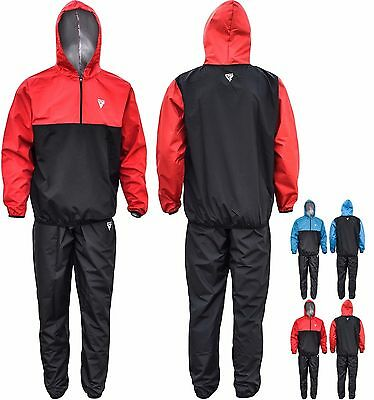 RDX Boxing Sauna Sweat Suit TrackSuit Weight loss Heavy Duty Slimming Training C