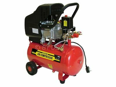 Pro User 2HP Electric Twin Outlet 24L Air Compressor