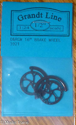 "Grandt Line #3921 D&RGW 16"" Brake Wheel (2 in pkg) Plastic (1:24th Scale)"