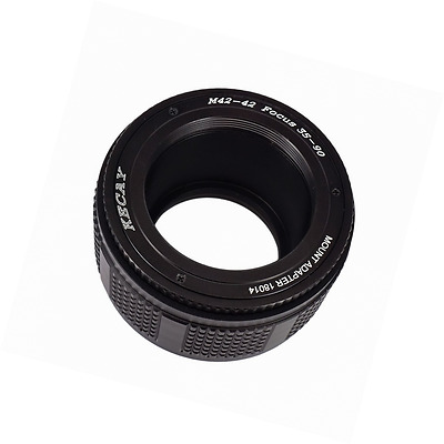 KECAY M42 (42mm) to 42mm Mount Focusing Helicoid Ring Adapter 35mm - 90mm(Black)