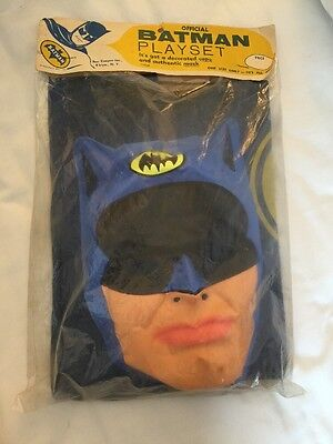 1965 OFFICIAL BATMAN Ben Cooper Halloween Costume Factory Sealed RARE