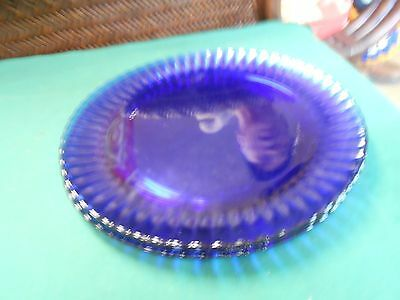 Great COBALT Set of 3 DINNER Plates Made in Brazil by COLOREX