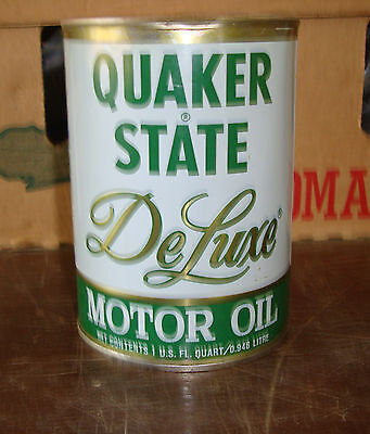 Quaker State Deluxe Qt. Motor Oil Tin Can