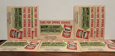 10 Veedol Oil One Cent Advertising Postcards