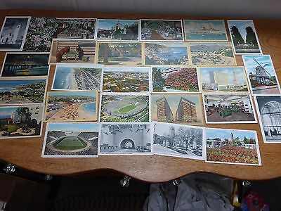 Vintage lot of 59 1930's California Postcards San Francisco, Chinatown