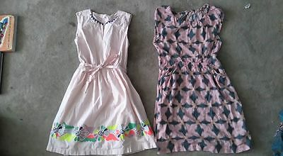 J.CREW - Floral Embroidered Prints Dress Girls Clothing lot 2 sz 14 - 16 USED
