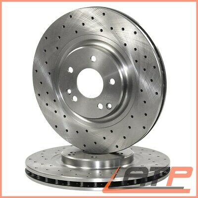 2x BRAKE DISC FRONT DRILLED/VENTED Ø322 MERCEDES E-CLASS W212 AB  03.09-