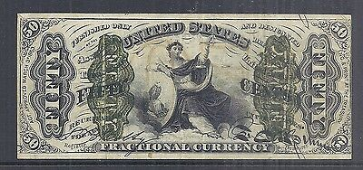 1863 US Fractional Currency - 50 Cents - 3rd Design - XF Appearance - Circ*