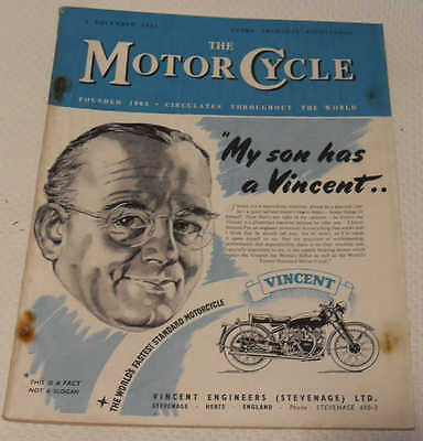 The Motor Cycle magazine 3rd Dec 1953: Royal Enfield Bullet trials, Milan Show