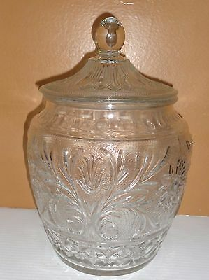 Vintage Tiara Sandwich Glass Daisy Canister Cookie Jar