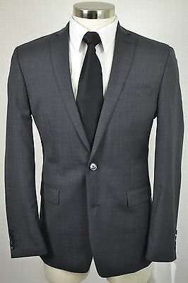 (44R) Bar III Men's Gray Wool SLIM FIT Flat Front 2 Piece Suit (36x32)