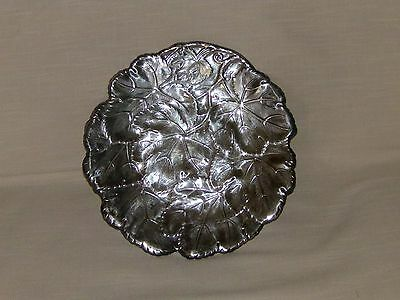 Vtg Towle Silverplate Tray / Sandwich Plate With Leaf Design