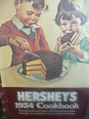 Hershey's 1934 Cookbook Revised And Expanded With Chocolate Recipes Cookbooks