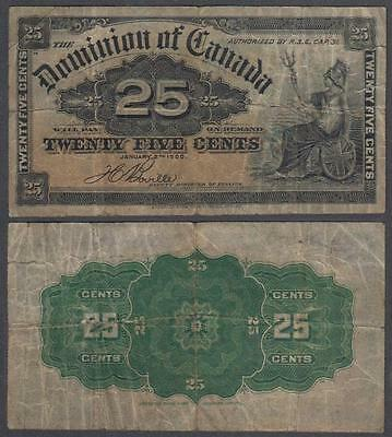 1900 Dominion of Canada 25 Cents