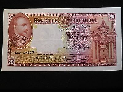 Portugal 1940 20 Escudos Cat-143 VF+