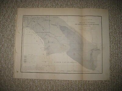 Rare Antique 1855 San Diego Colorado River Los Angeles California Map Geology Nr