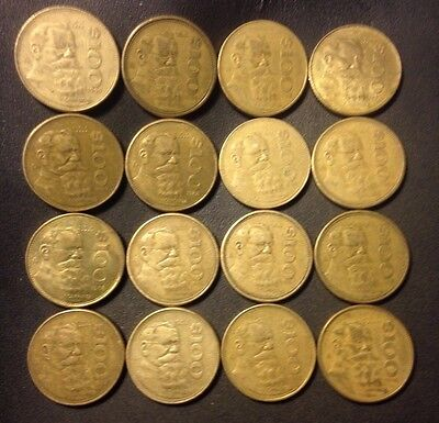 Old Mexico Coin Lot - 100 PESOS - 16 Excellent Less Common Coins - Lot #GRL