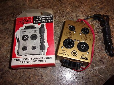Vintage PAT. NO. 2752563 HOME Television and Radio Tube Tester 110 Volt  -LOTWIN