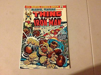 MARVEL FEATURE #12 Marvel Bronze Age Key EARLY THANOS APPEARANCE #CC