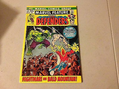 MARVEL FEATURE #2 Marvel Bronze Age 2nd Appearance of THE DEFENDERS Lower Grade