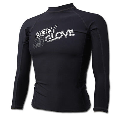 Body Glove Basic Fitted Long Sleeves Boys Rash Guard Swimwear Shirt Colors+Sizes