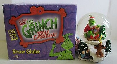Mib 2000 Universal Studios Dr.seuss Who The Grinch Stole Christmas Snowglobe