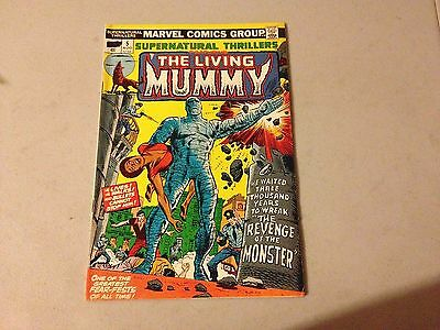 SUPERNATURAL THRILLERS #5 Marvel Bronze Age 1st Appearance of THE LIVING MUMMY
