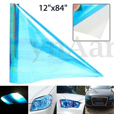 12''x84'' Chameleon Blue Tint Headlight Taillight Fog Light Vinyl Tint Film Wrap