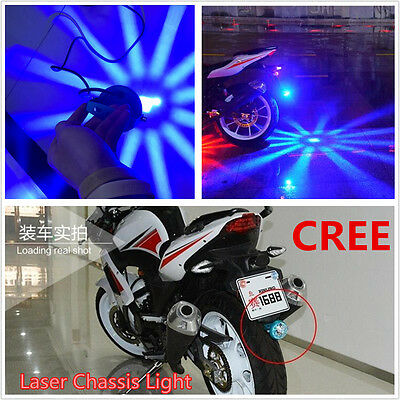 1pcs Blue CREE 10W Motorcycle Laser Chassis Light Atmosphere Blue Rear Light New