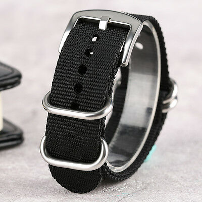 High Quality Nylon Watch Strap 20/22/24mm Green/Black Fabric Canvas Watchband