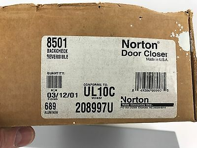Norton Door Controls 8501 Door Close 689 Finish, new in open box