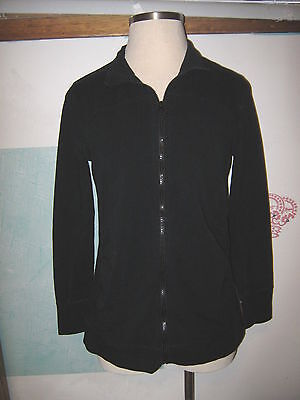 LIZ LANGE MATERNITY Black Zip Front No Pocket Collared Stretch Knit Jacket XXL