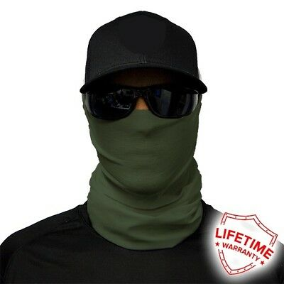 MOTORCYCLE FACE MASK - ARMY GREEN - (Moto, Hunting, Fishing, Paintball)