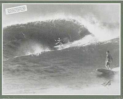 "1968 Eddie Aikau & Steve Gaines Haleiwa, North Oahu, Photograph On 8X10"" Matt"