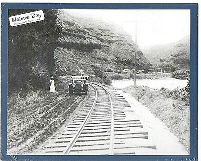 WAIMEA BAY EAST MODEL T 1915?, HALEIWA, NORTH OAHU, PHOTO ON 8x10 INCH MATT