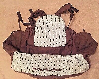 Eddie Bauer Shopping Cart High Chair Seat Cover Brown Blue EUC Baby Toddler