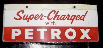 Texaco Super Charged w/ Petrox Sign -- Pump Plate