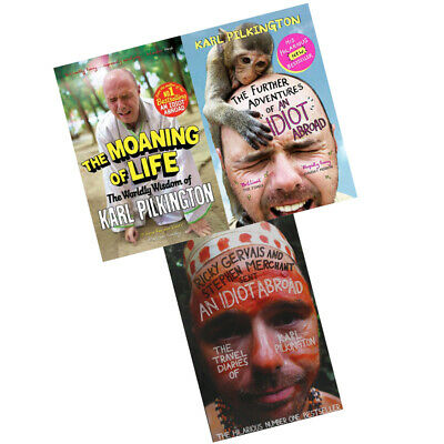 Karl Pilkington 3 Books Collection Set (The Moaning of Life,An Idiot Abroad) NEW