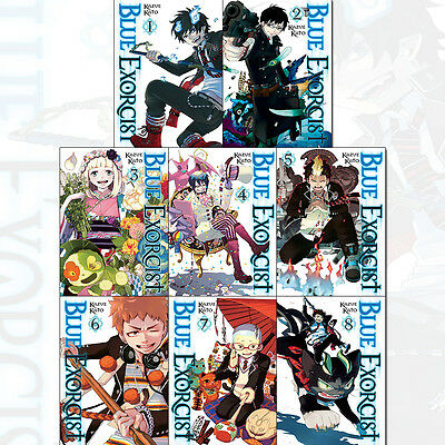 Kazue Kato Blue Exorcist Series Vol (1 to 8) Collection 8 Books Set Pack NEW UK
