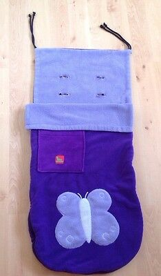 Fleece Buggy Snuggle Footmuff Cosy Toes With Butterfly Detail Vgc