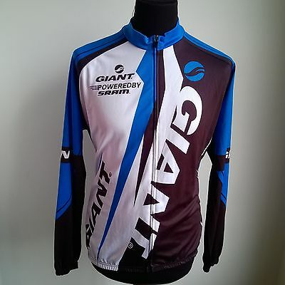 Blue Black Touring Cycling Shirt L/s Giant Jersey Size Adult 2Xl