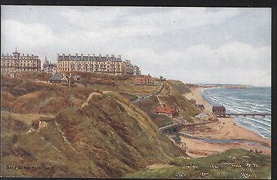 Postcard - Saltburn, from the East, Yorkshire, by A.R.Quinton. Super Condition.