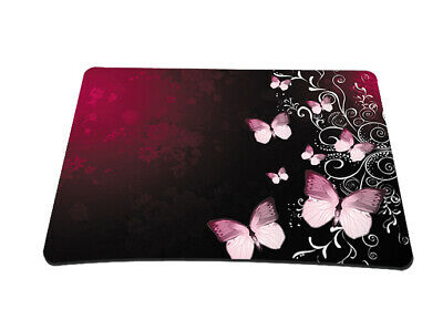 Silent Monsters Gaming & Office Mauspad 24x 20 cm, Mousepad Design red butterfly