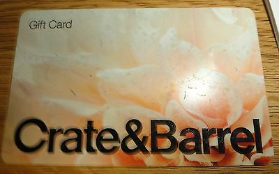 $100 Crate And Barrel Gift Card New- Never Used