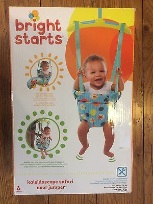 65faa0d7de02 BRIGHT STARTS KALEIDOSCOPE Safari Door Jumper Baby Exercise Hopper New