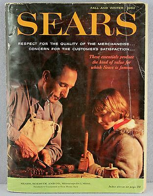 Vintage Sears Roebuck Catalog Fall & Winter 1962 Acceptable Condition Complete