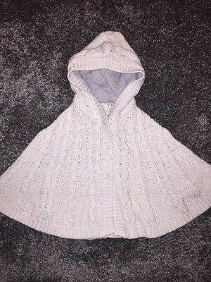 Baby Girls Poncho Jumper By Mothercare Age 12-18 Months