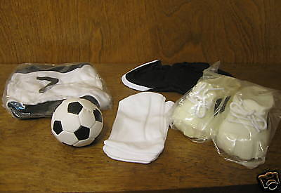 "Tender Heart Treasures #82031 SOCCER OUTFIT, New From Retail Store, for 12"" bear"