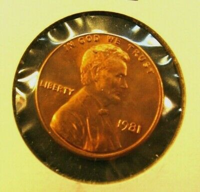 1981   Lincoln Memorial  Cent  BU    Red  Nice  US  Coin   Combined  Shipping